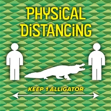 Physical Distancing Alligator Graphic