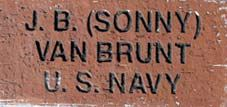 One of the Bricks located at the WWII Memorial