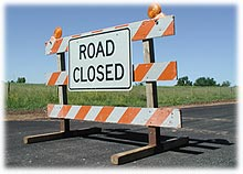 Road Closures Sign