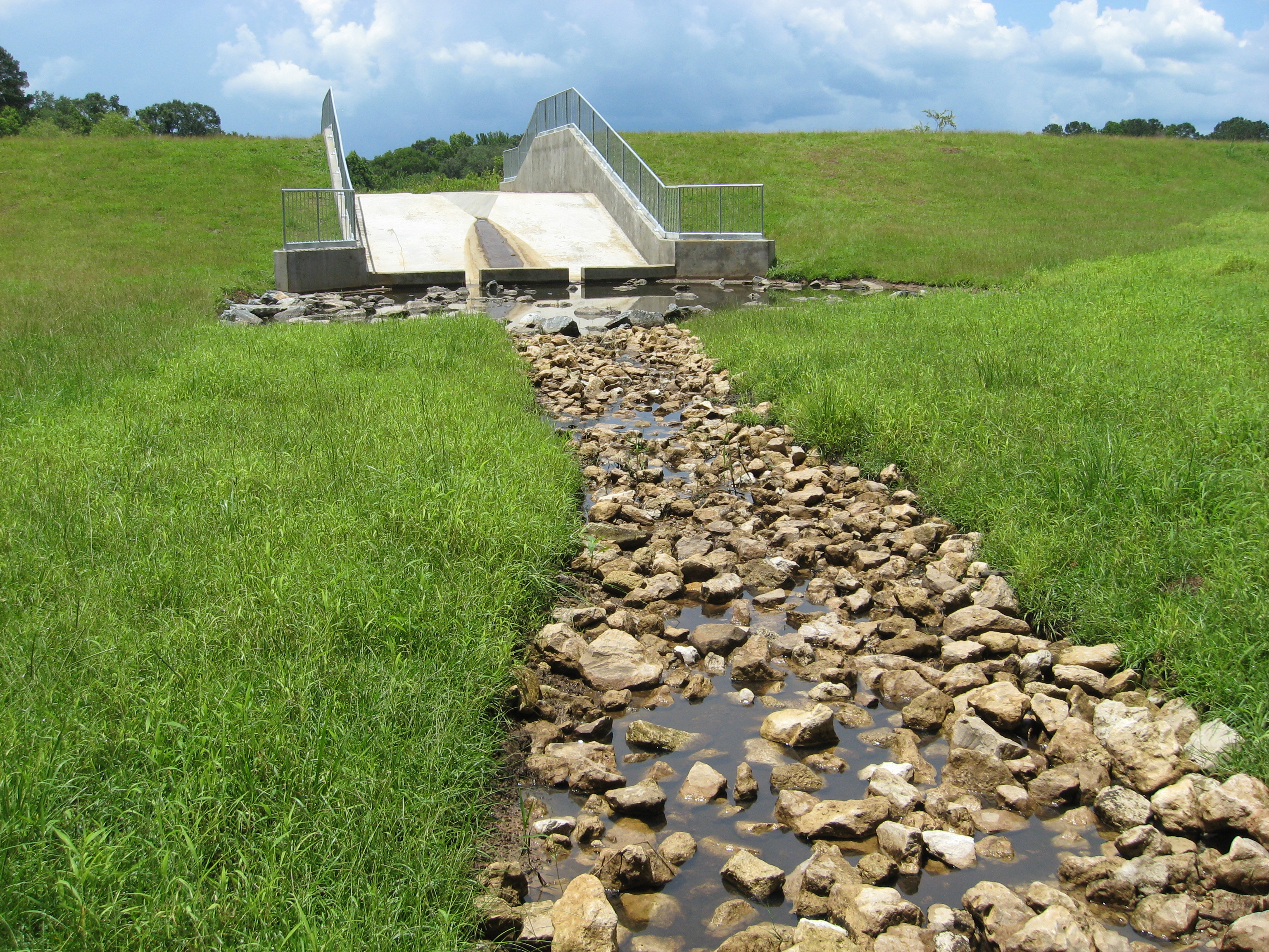 Improved Concrete Spillway
