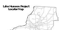 Lake Munson Project Locator Map