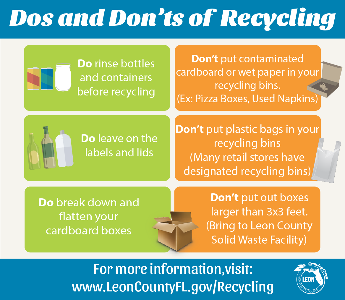 City Of Tallahassee Recycles Too Recycle Guide A
