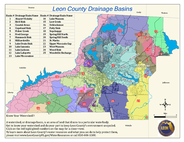 Leon County Drainage Basins Map
