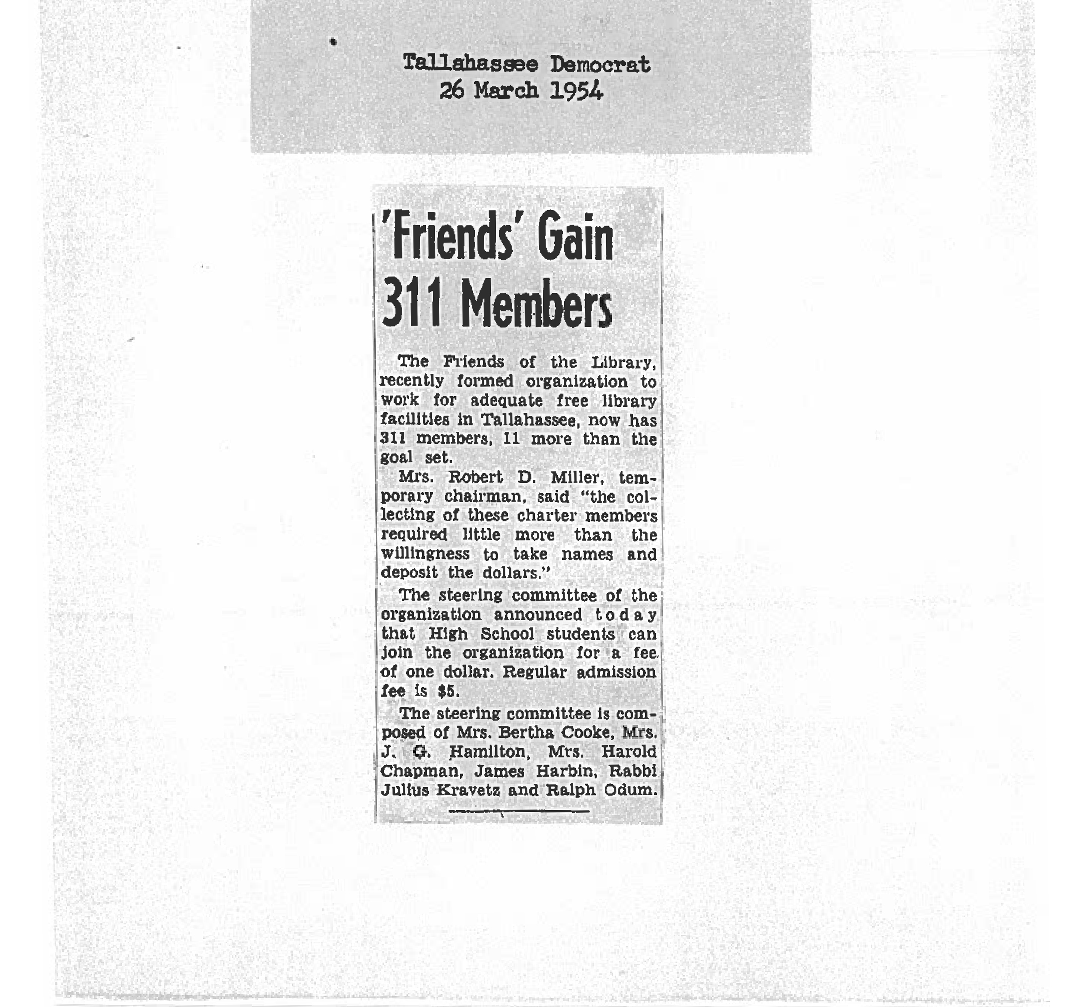 March 1954 Members article